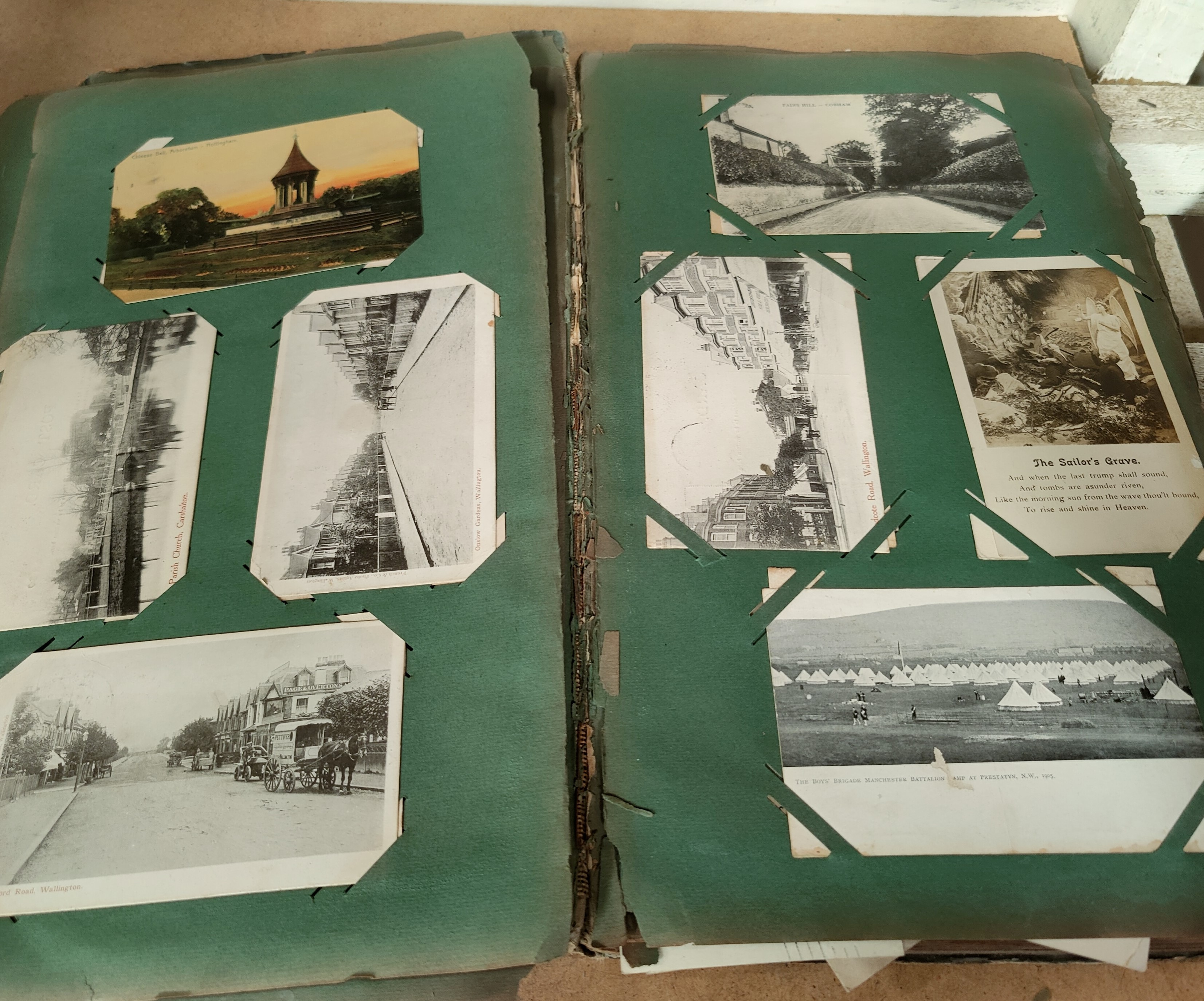 An Edwardian postcard album containing 140+ cards - Image 2 of 5