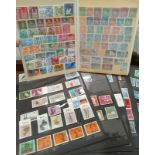 A collection of mint German and Denmark stamps