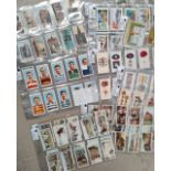 A selection of various parts etcs of cigarette cards including 1935 Rugby Internationals, Medals,