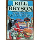 BRYSON (Bill) - Notes from a Big Country, 1st edition, signed Christmas dedication, dw, 1998