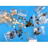 A selection of small cameo inserts, various stones including white Topaz, White Sapphire etc