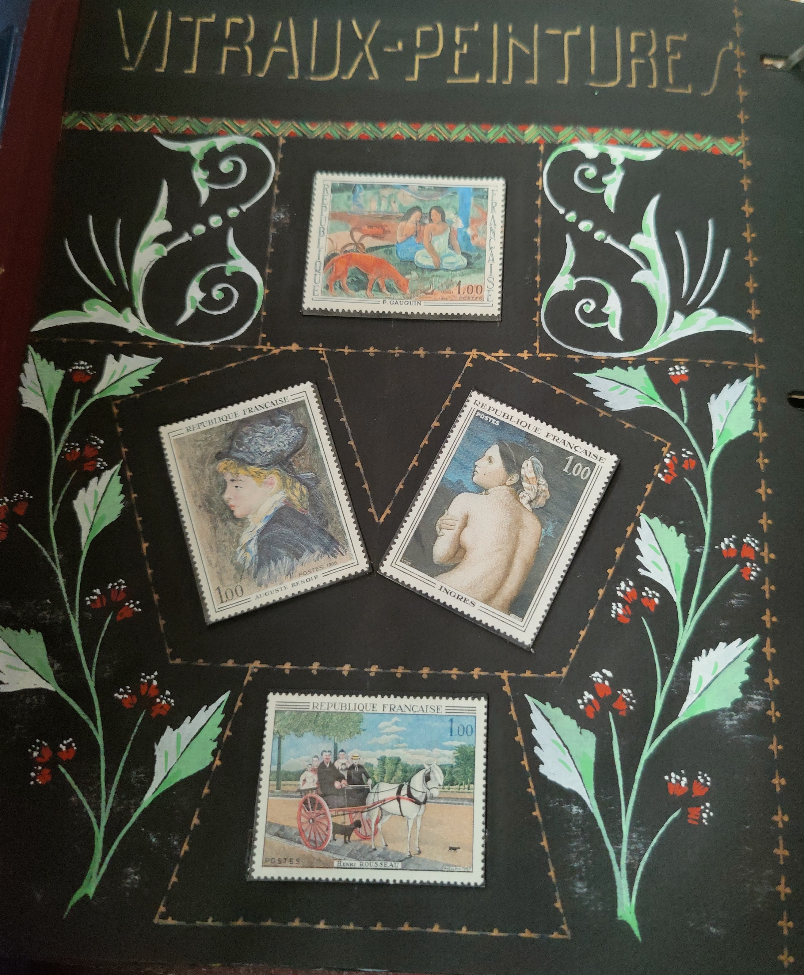 A decorated album with French issues, 3 other albums. - Image 4 of 7