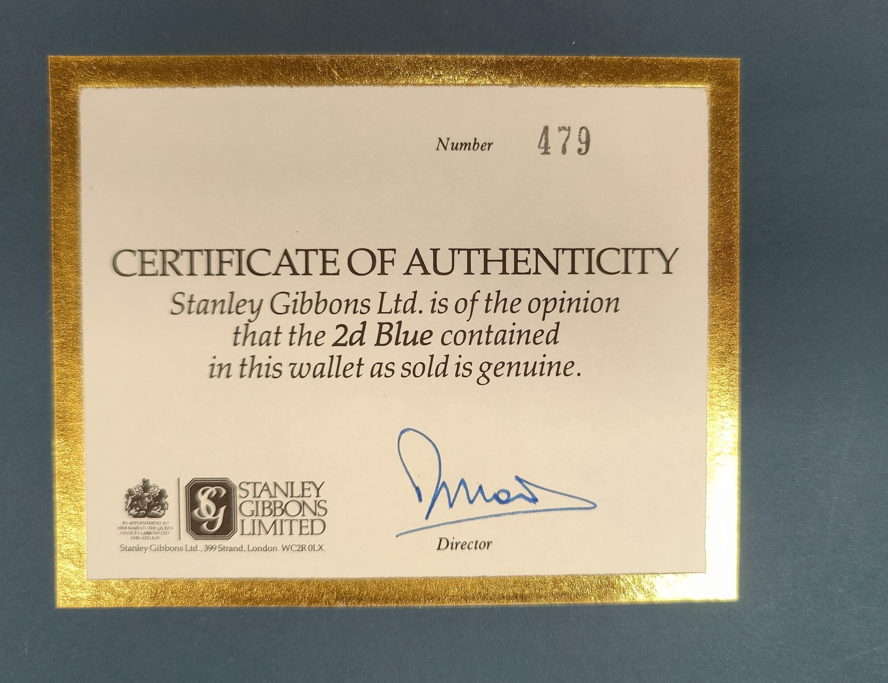 GB: Stanley gibbons; 2d Blue in folder. - Image 2 of 2