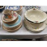 "A 1930's ""Mayfair"" floral 19 piece part tea service and decorative plates, dishes etc"