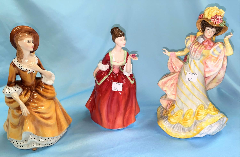 3 Royal Doulton Ladies - Sandra HN2275, Flower of Love HN3970 and Flowers of Love Primrose HN3710