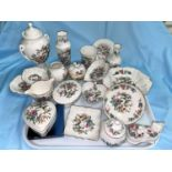 A selection of Aynsley china and trinket ware, 20 pieces approx