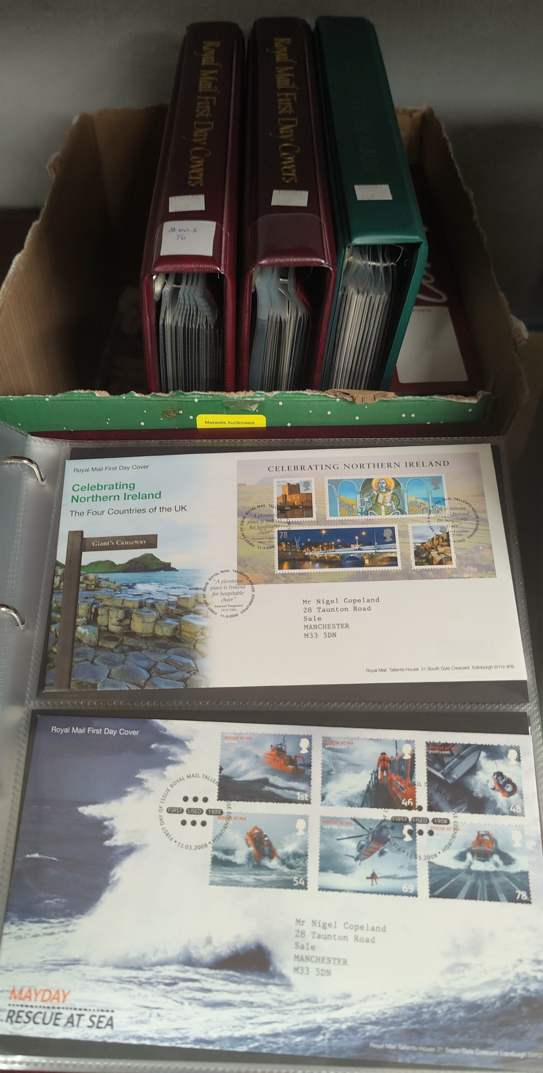 GB: a collection of FDC's mainly 2000's, 5 albums.