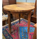 A late 19th / early 20th century cricket table (some older woodworm)