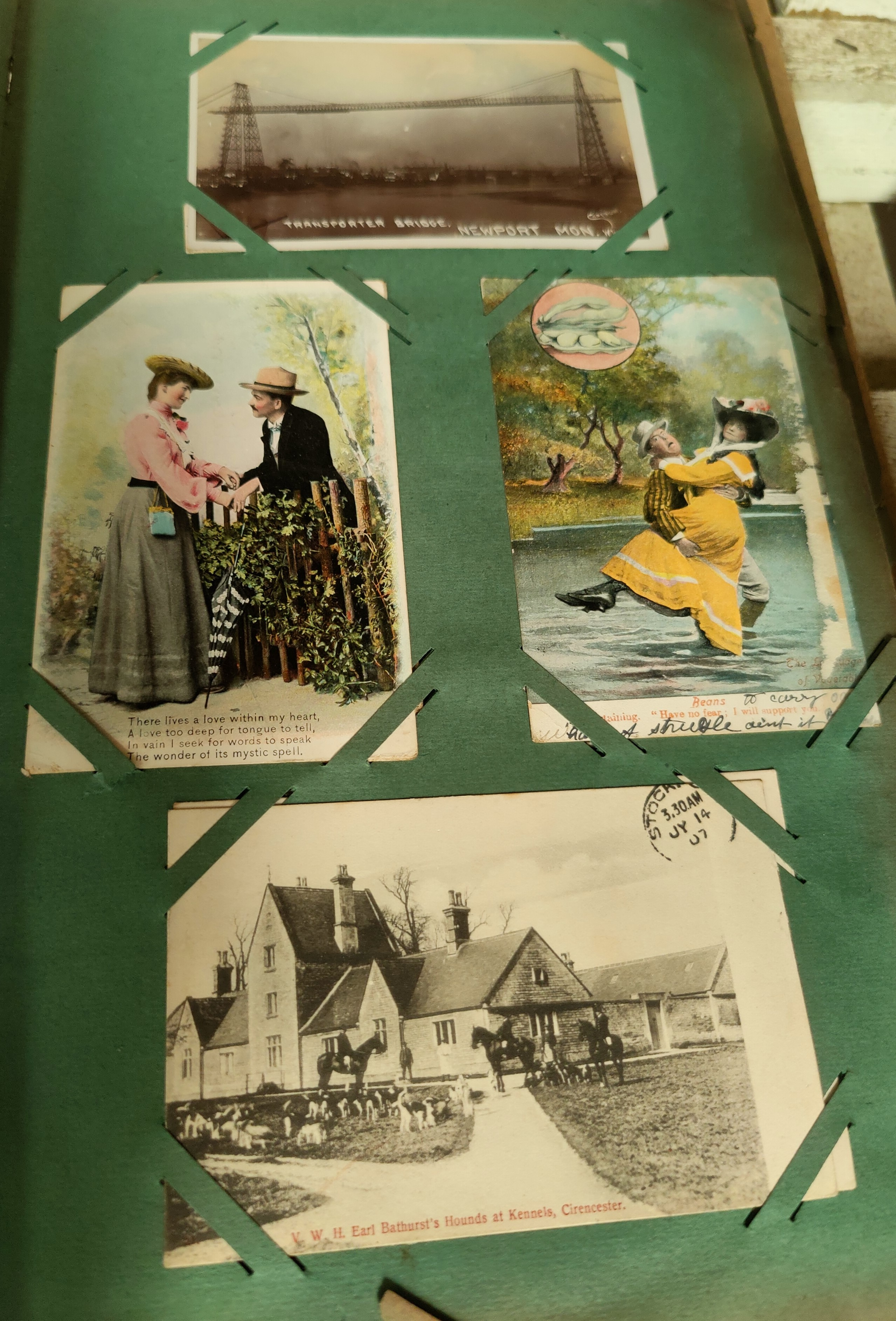 An Edwardian postcard album containing 140+ cards - Image 5 of 5