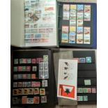 A stockbook containing stamps from Bermuda, Grenada and other commonwealth, another with mainly GB