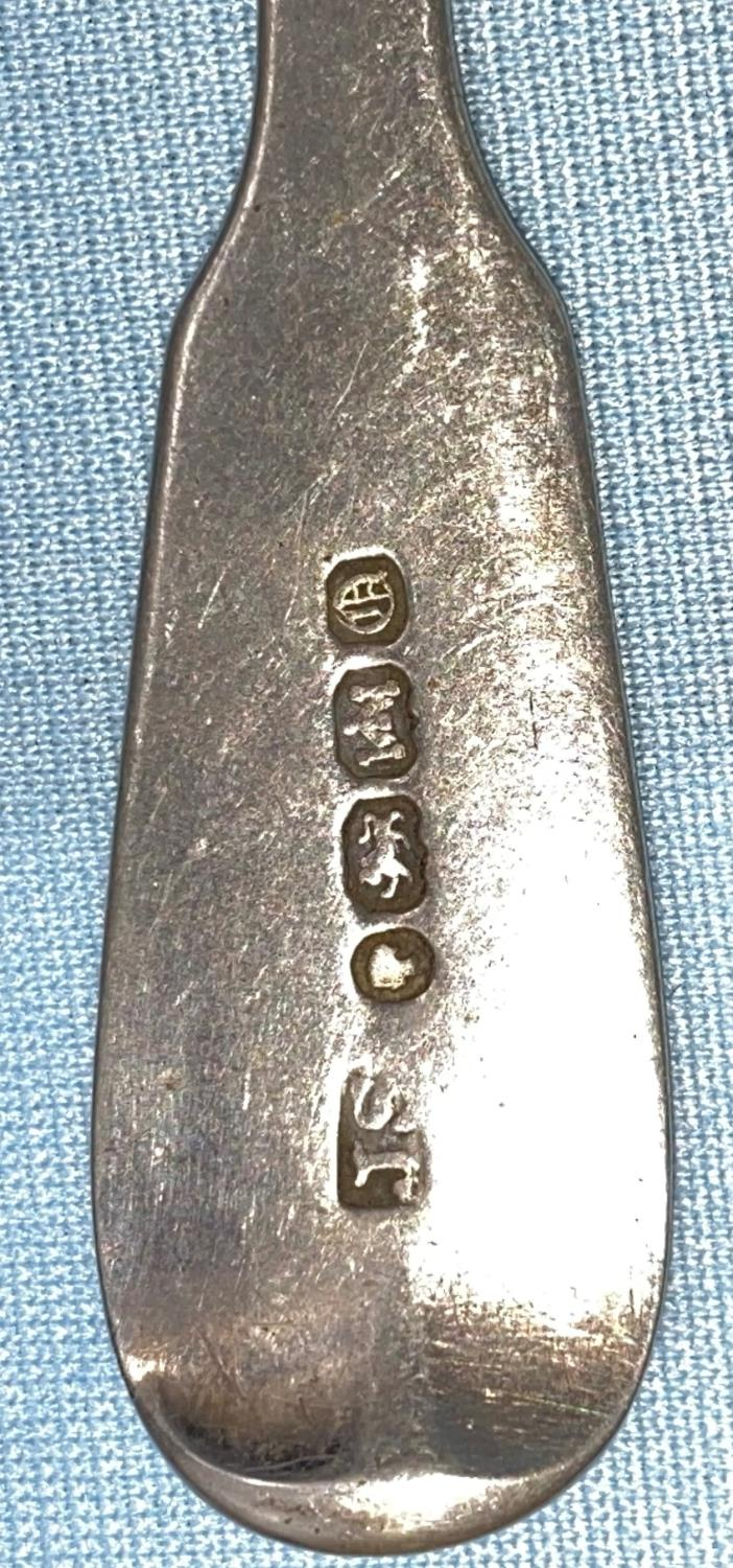 A set of four monogramed fiddle patterned teaspoons, Exeter 1857; a set of three monogramed fiddle - Image 2 of 2