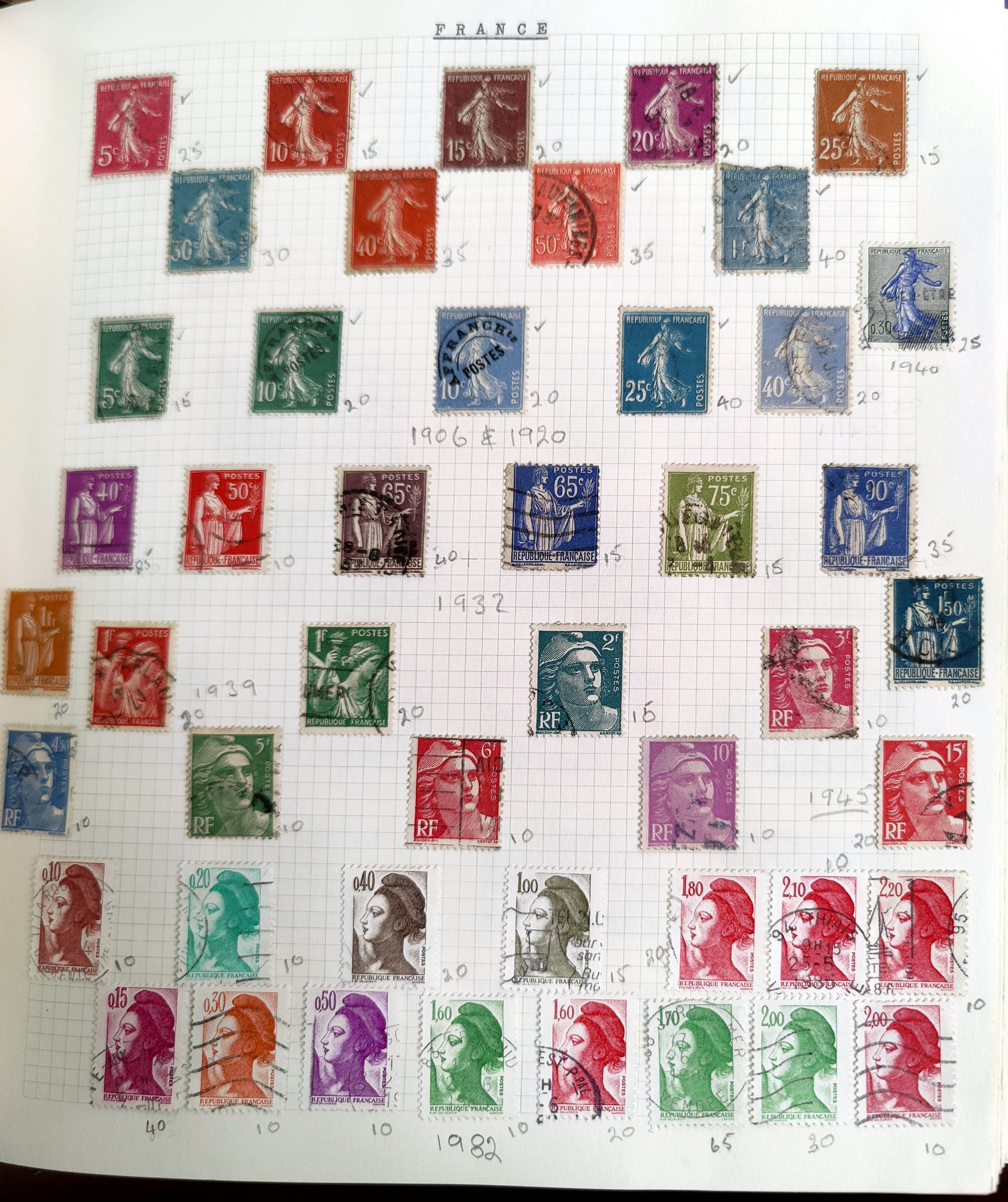 A very nicely presented world collection of stamps in 4 Stanley Gibbons Devon loose-leaf albums with - Image 15 of 23