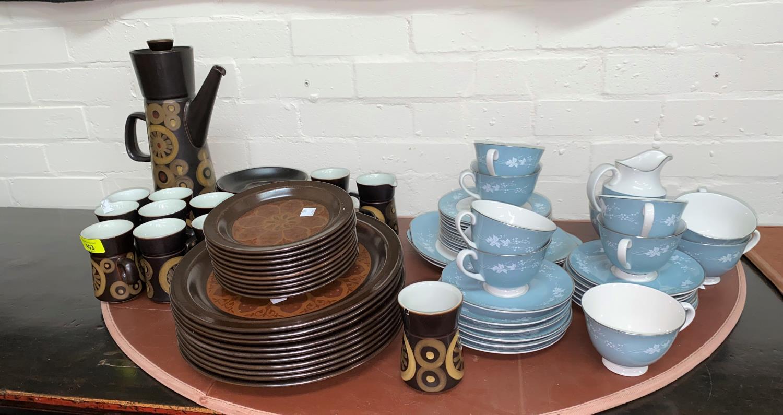 "A Royal Doulton ""Reflections"" part tea service; a 1970's ""Arabesque"" coffee service; etc."