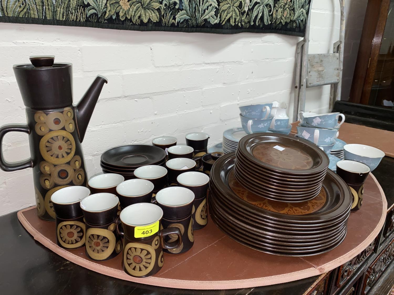 "A Royal Doulton ""Reflections"" part tea service; a 1970's ""Arabesque"" coffee service; etc. - Image 2 of 2"