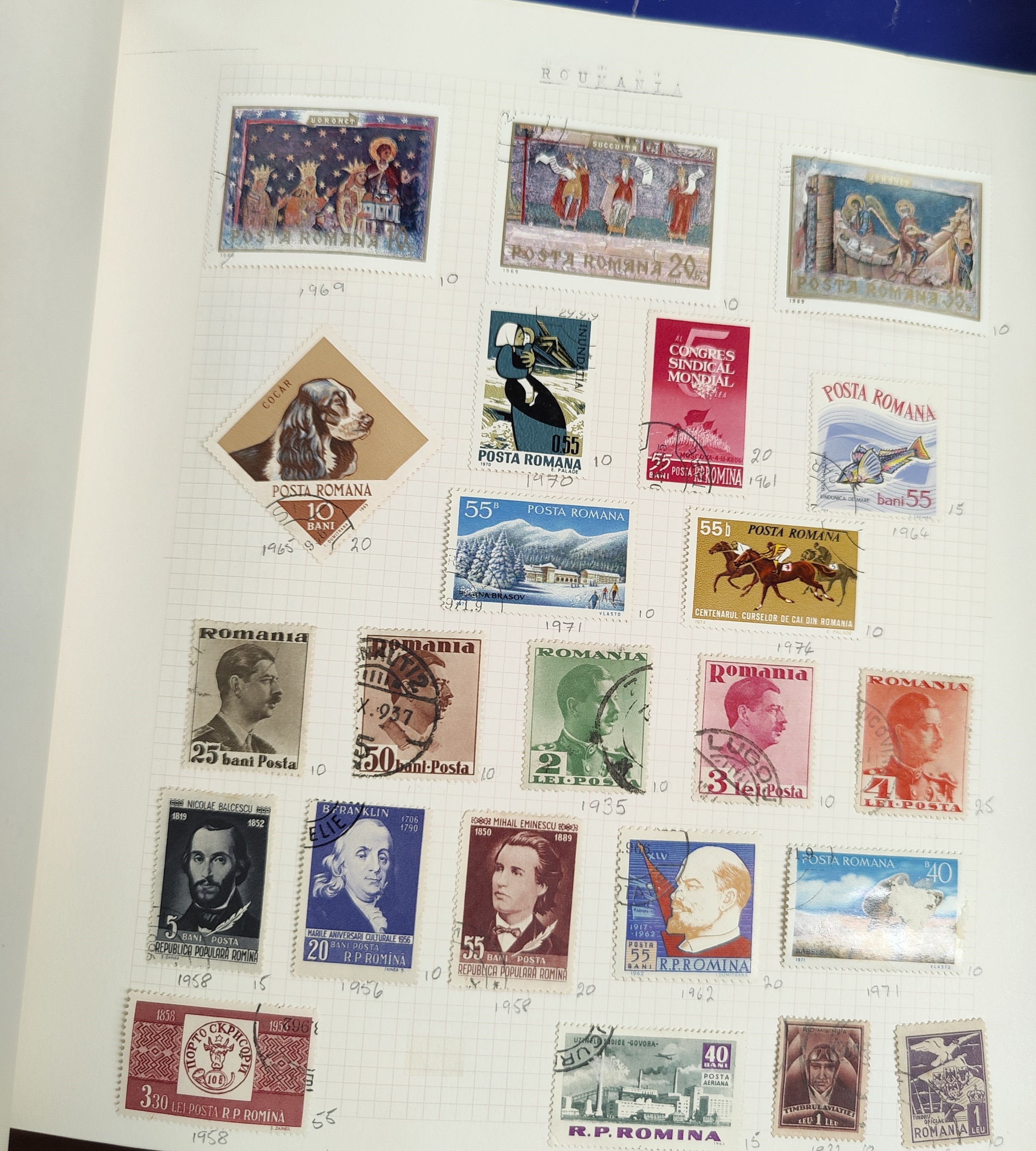 A very nicely presented world collection of stamps in 4 Stanley Gibbons Devon loose-leaf albums with - Image 17 of 23
