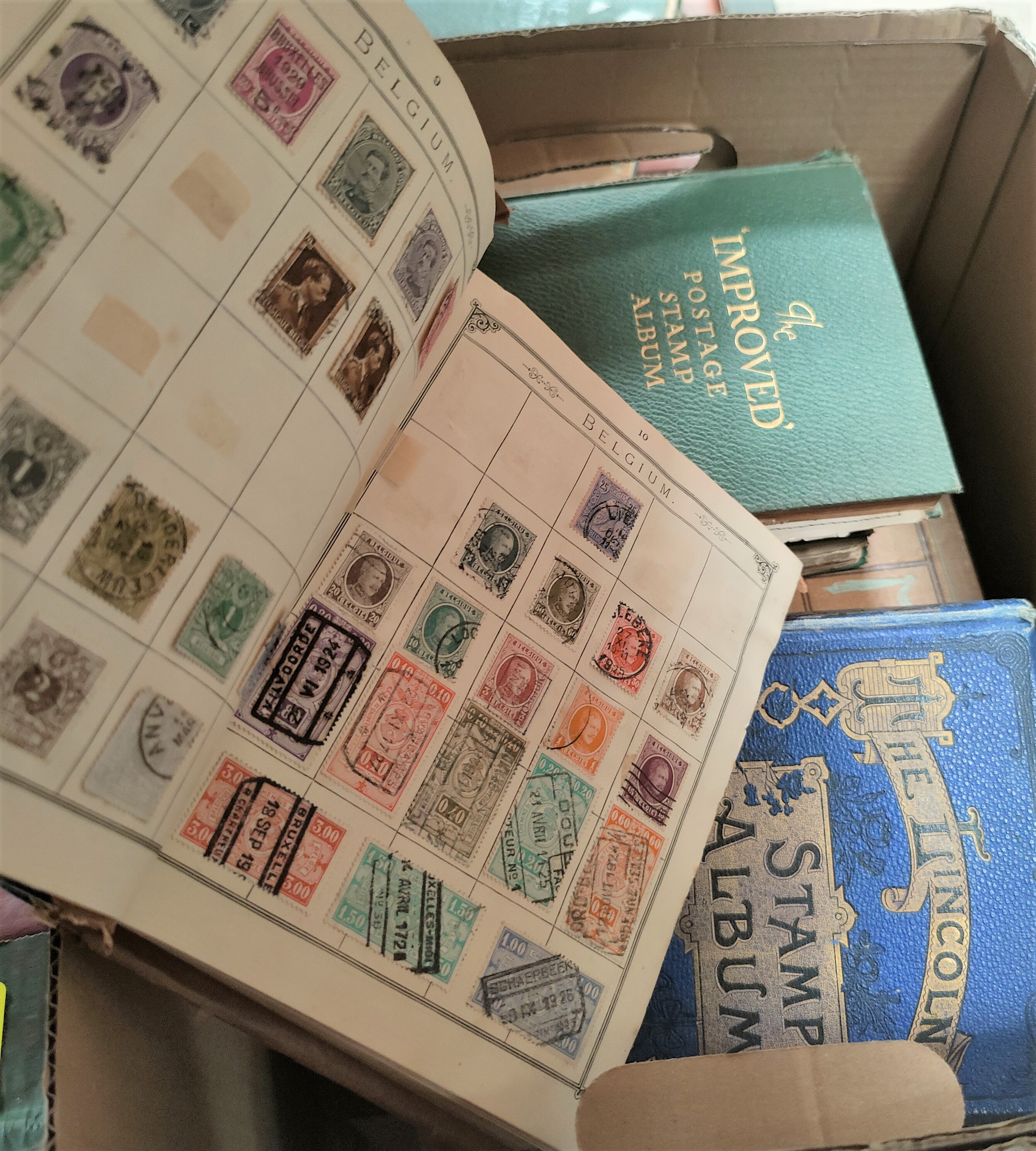 A quantity of older stamp albums