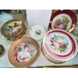"""A selection of collectors plates by Royal Worcester """"Flower Maidens""""; other decorative plates"""