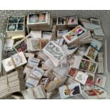 A large selection of part sets of Will, Players etc cigarette cards