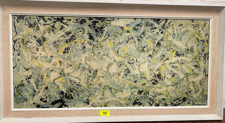 JACKSON POLLOCK: A 1970's process print including signature 50 x 35 x 74cm, contemporary frame - Image 3 of 3
