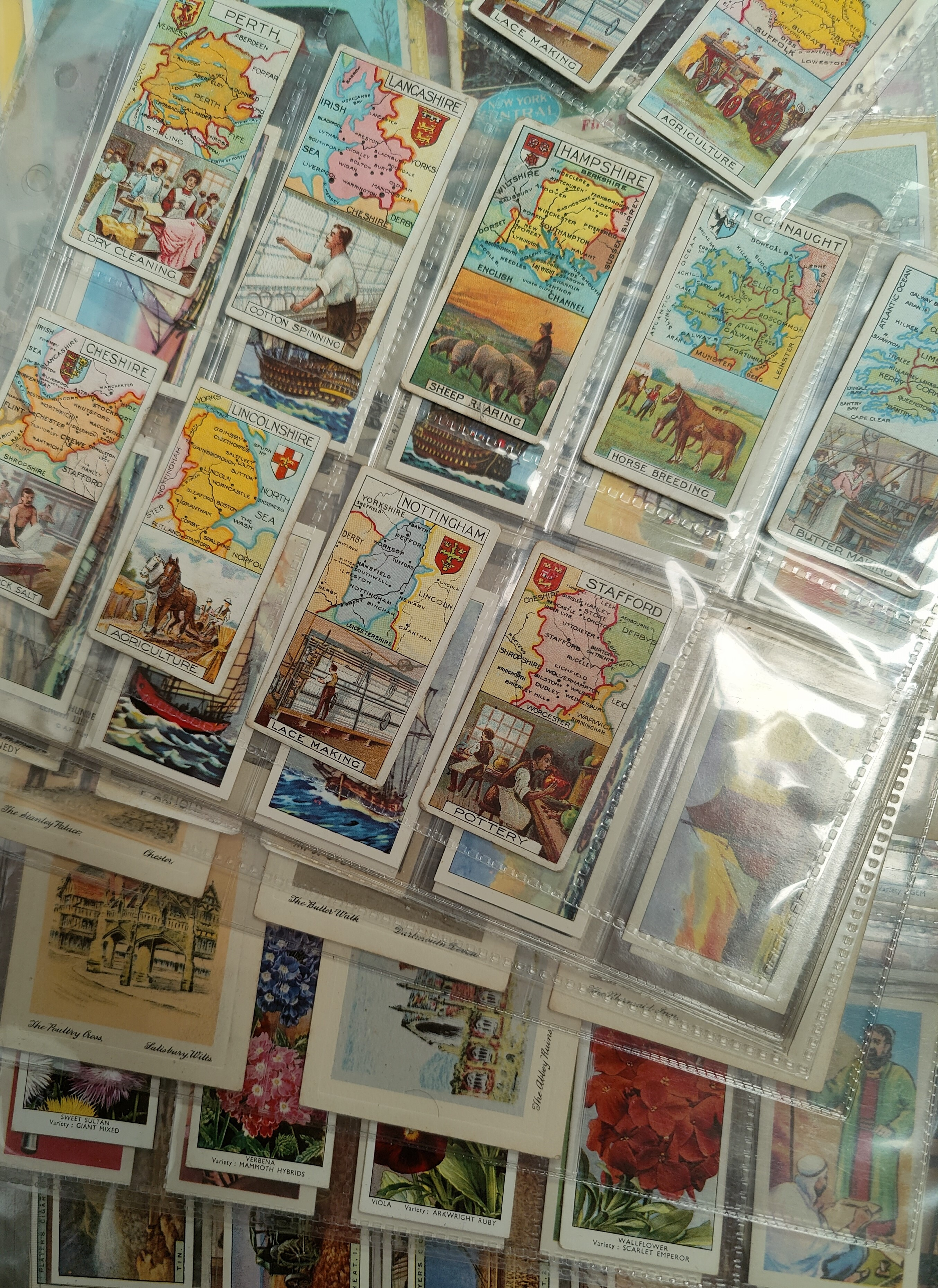 110 assorted sheets of spare and part set cigarette cards including Players, Ogden etc - Image 4 of 5