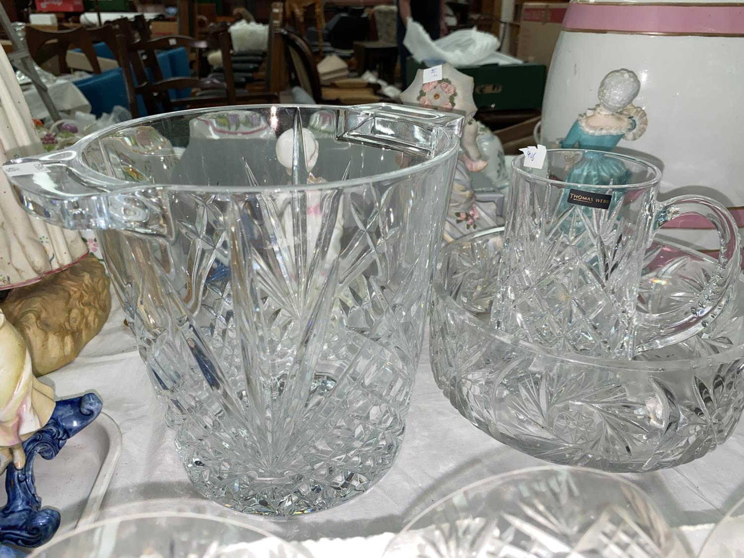 An Edinburgh Crystal set of 6 goblets, boxed; 6 cut saucer champagnes; glassware - Image 3 of 3