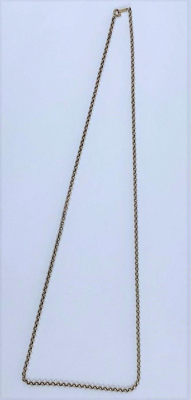 A fine belcher chain, stamped '375', 9.6 gm - Image 2 of 3