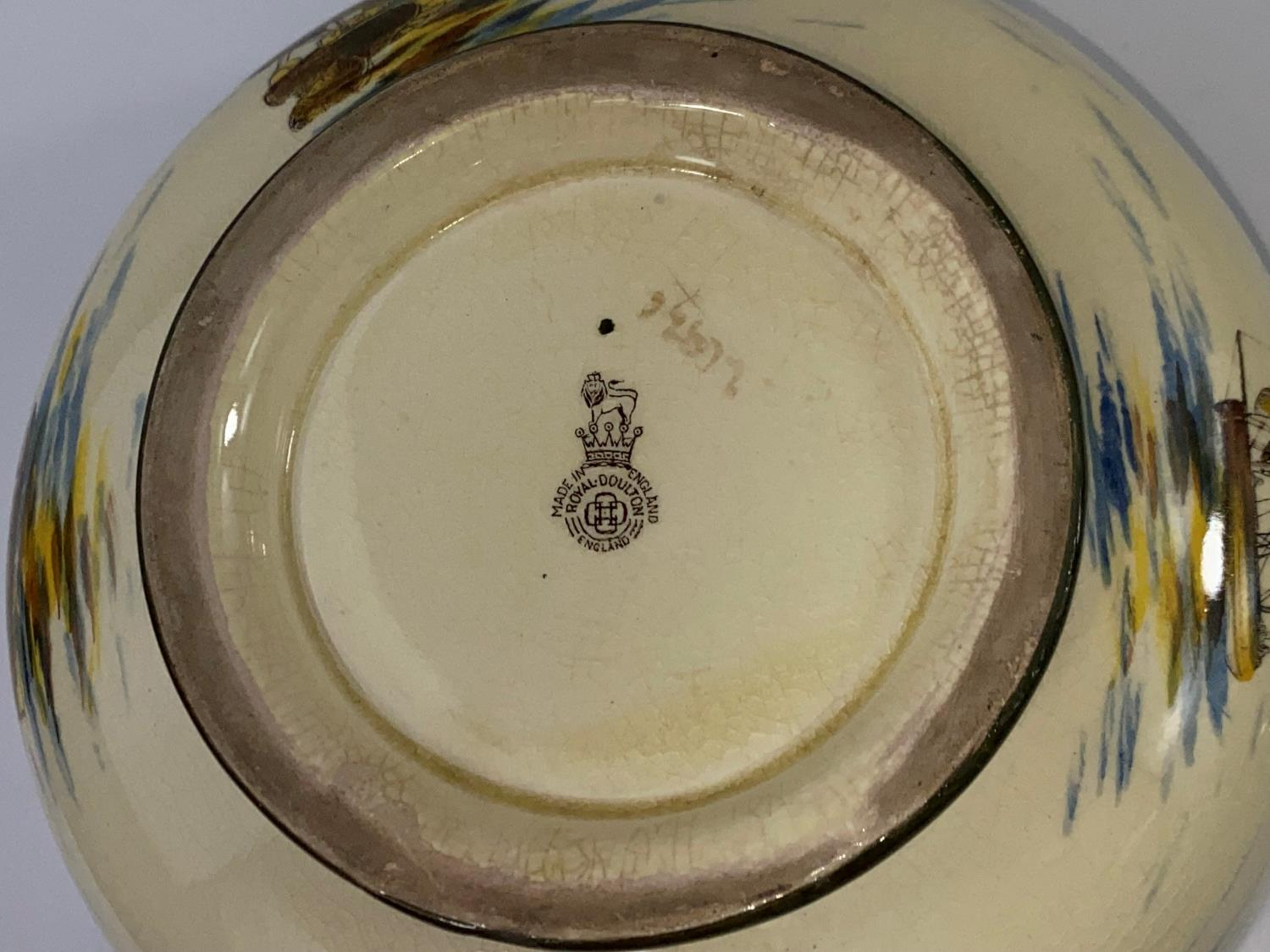 A Royal Doulton - decorated with sailing boats to the interior and exterior - Image 3 of 3
