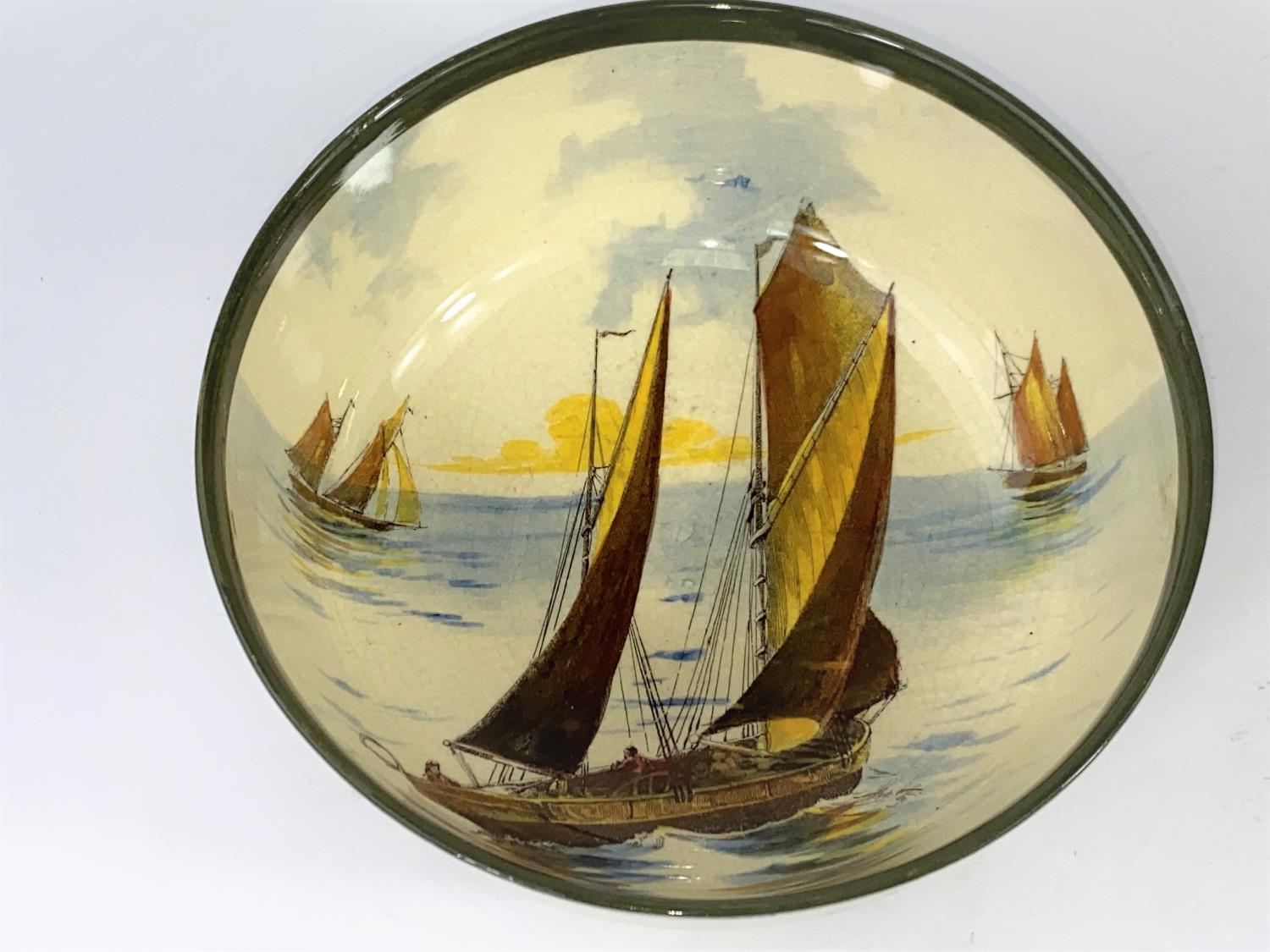 A Royal Doulton - decorated with sailing boats to the interior and exterior - Image 2 of 3