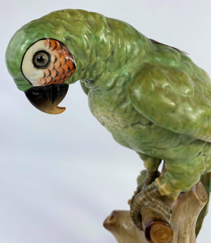 A 19th century Paris Sampson porcelain figure of a parrot, Gold Anchor mark, 34cm - Image 3 of 5