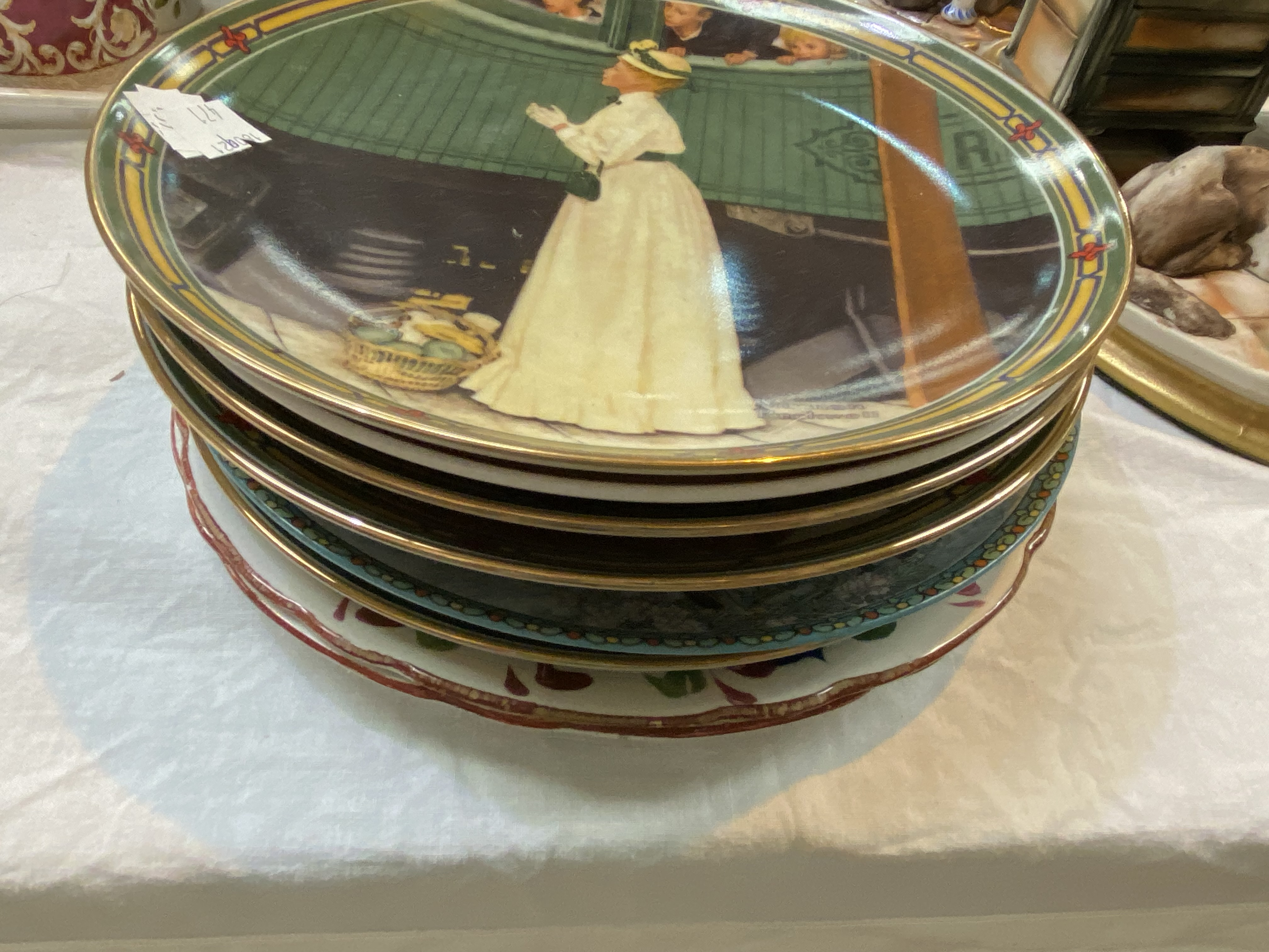 A Selection of Victorian and decorative pottery including collectors' plates, Blacko pottery sea - Image 3 of 4