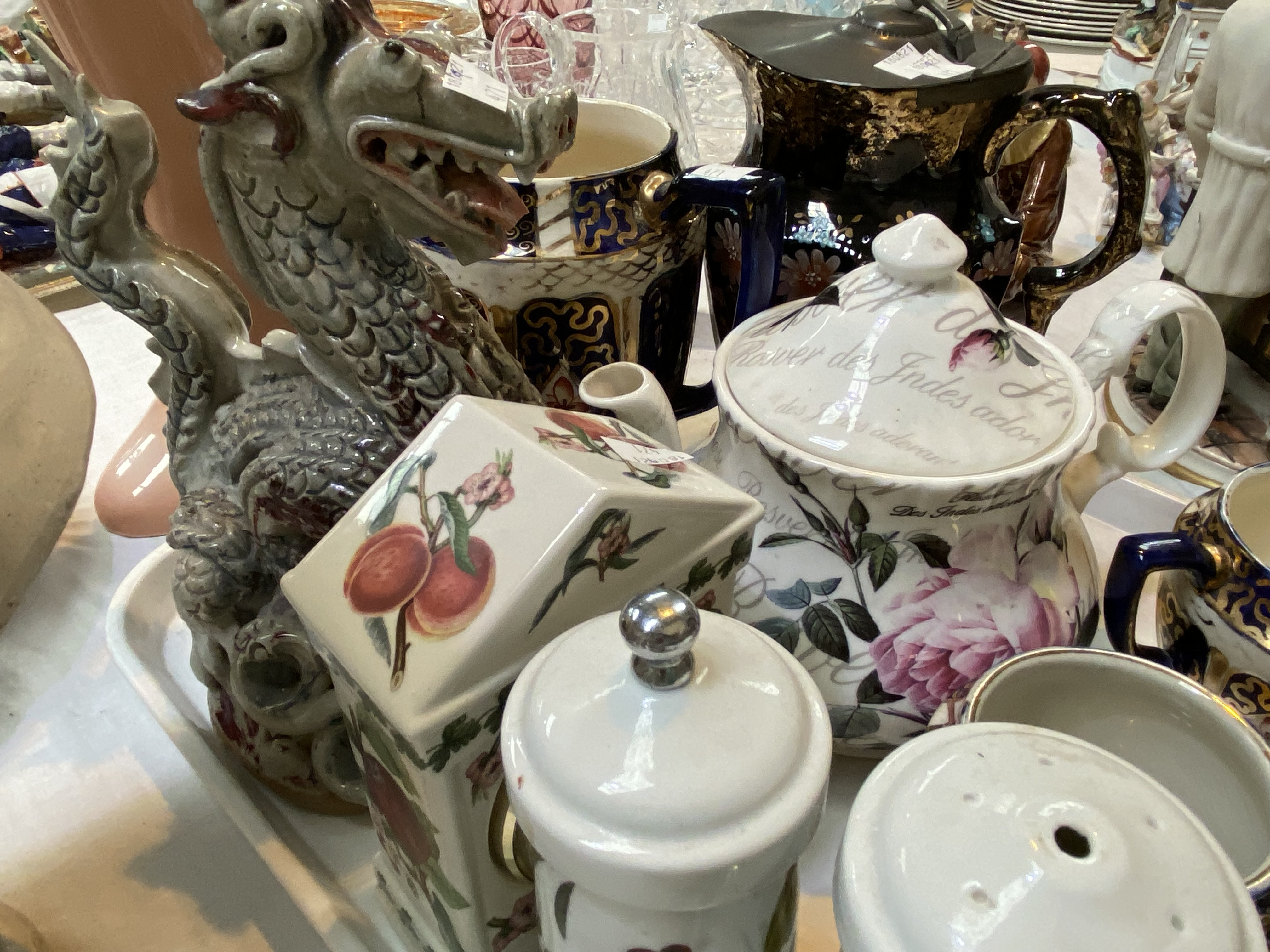 A Selection of Victorian and decorative pottery including collectors' plates, Blacko pottery sea - Image 2 of 4