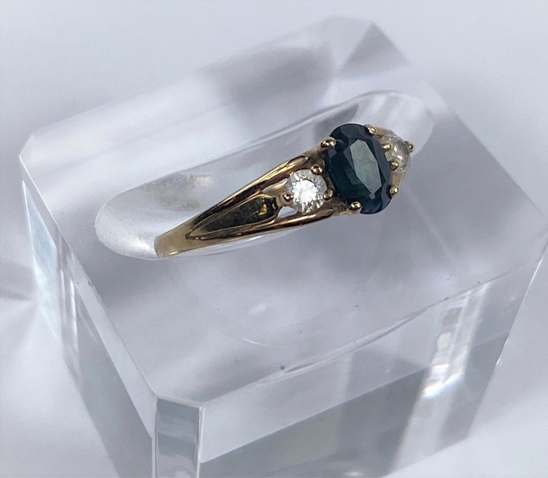 Three 9 carat hallmarked gold dress rings, 5.4 gm - Image 3 of 4