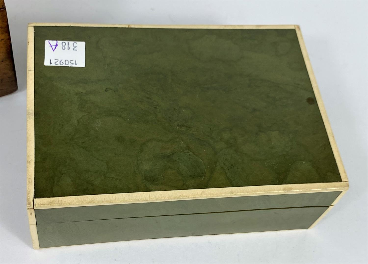 A Chinese cinnabar colour lacquered box, d. 18cm (restored); 2 other boxes - Image 3 of 7