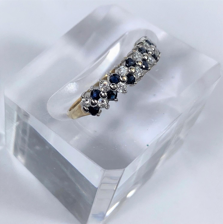 Three 9 carat hallmarked gold dress rings, 5.4 gm - Image 4 of 4