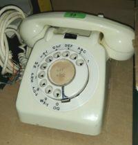A 1970's ivory coloured telephone