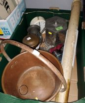 """An Arts and Crafts """"English Pewter 257"""" octagonal biscuit barrel, etc"""