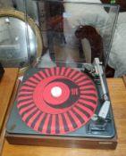 A vintage Garrard record player SP25