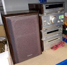 A Technics mini stacking stereo