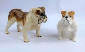 A large Beswick Bulldog Basford British Mascot 965, and a smaller seated Beswick bulldog 1872