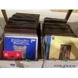 Three boxes of LP records