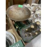 A set of Fairbanks weighing scales with brass weights