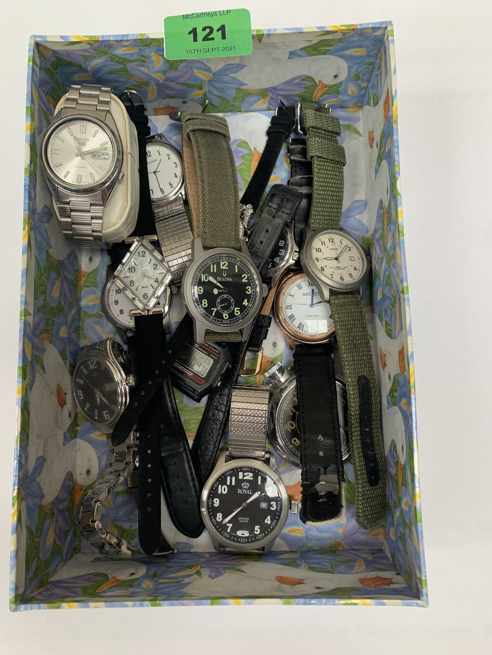 A collection of wristwatches