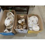A box of Royal Worcester Evesham crockery and two boxes of teaware