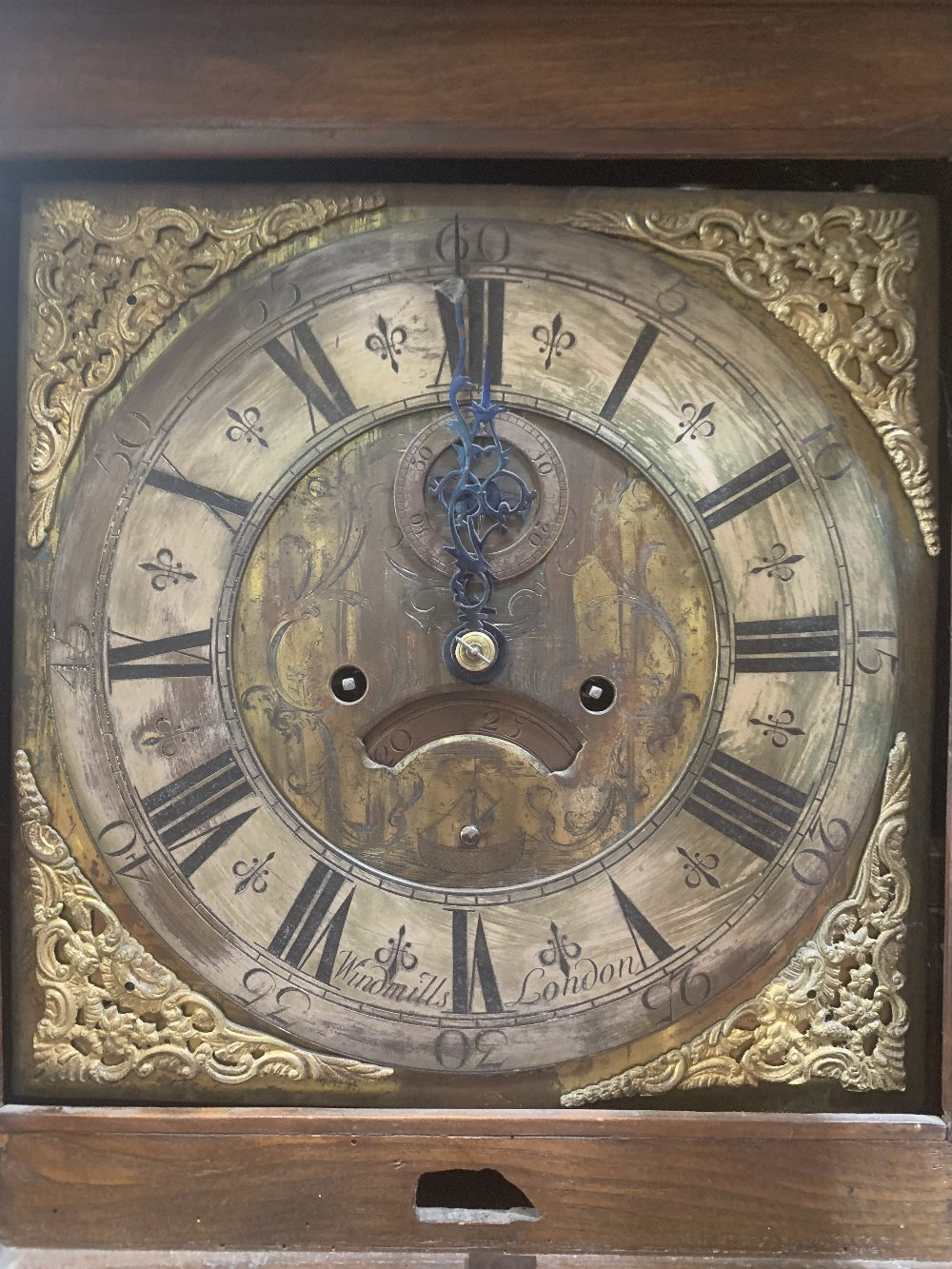 An 18th century oak and mahogany 8 day longcase clock, the 12' brass and silvered dial signed - Image 2 of 2