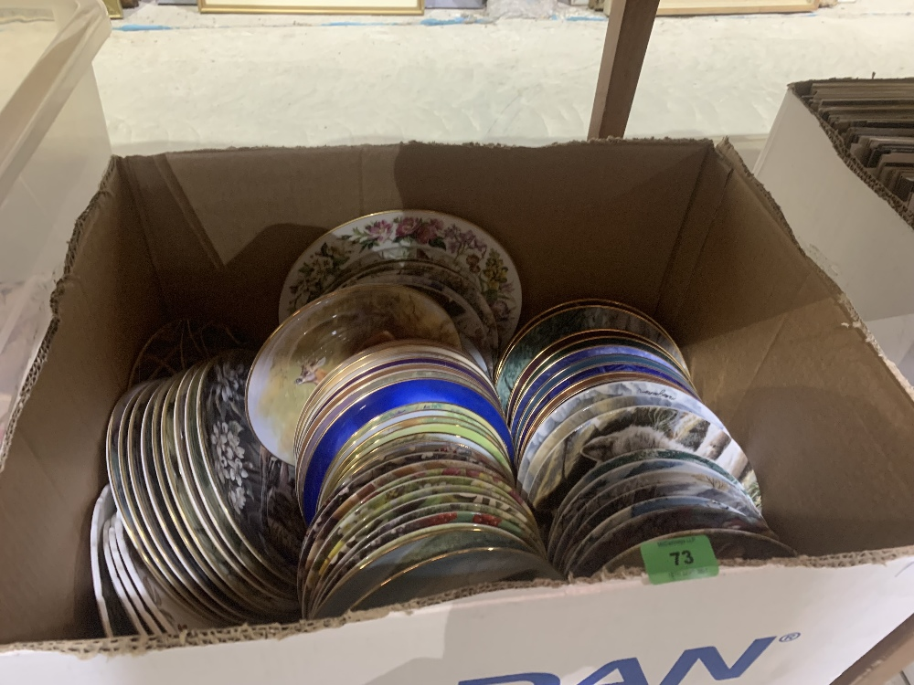 A box of collector's plates