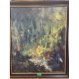 JAMIE SIMPSON. BRITISH 20TH CENTURY An abstract study. Signed. Oil on board 24' x 20'