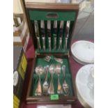 A canteen of Elkington cutlery
