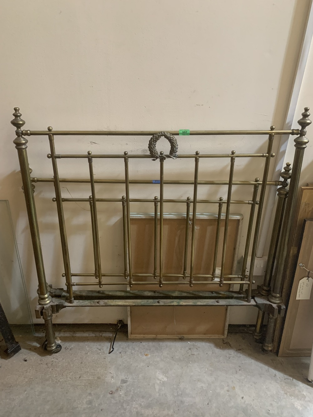A 19th century 3'6' brass bedstead. Mattress and bed linen available