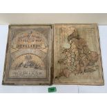 A 19th century Eslick's Patent Dissected Map of England