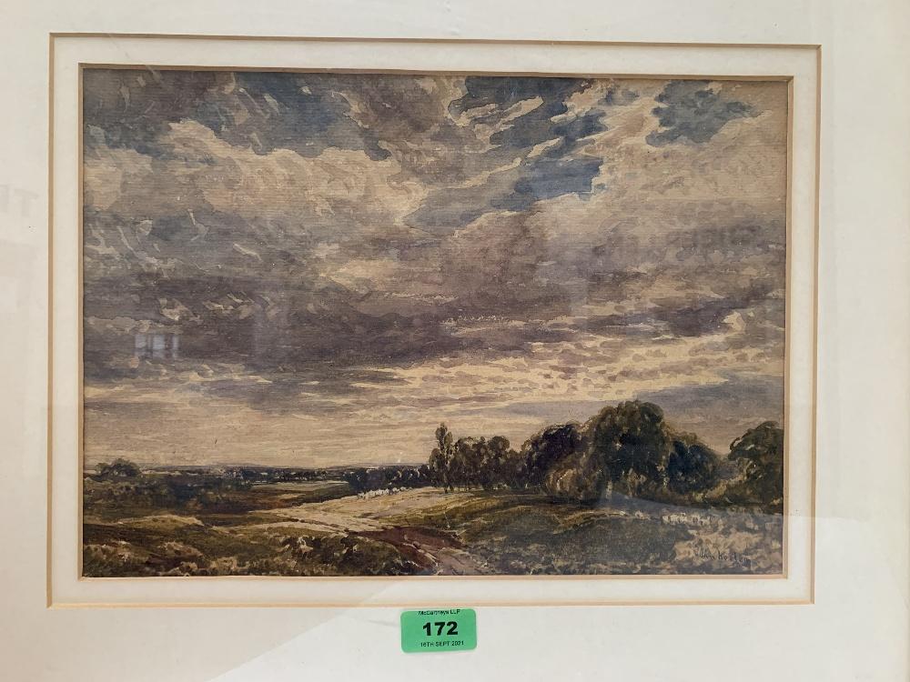 JOHN KEELEY; R.B.S.A; BRITISH 1849-1930 An extensive landscape. Signed. Watercolour 10' x 14'